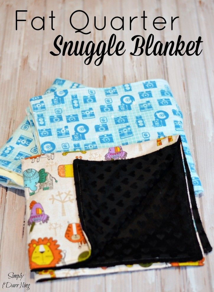 Fat Quarter Snuggle Blanket - an easy tutorial for these cozy blankets.   #FreeToBe #sponsored