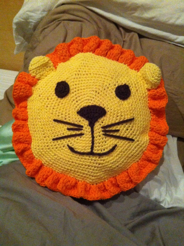 it was going to be a small stuffed animal, but my mom said make it bigger....alas, my first pillow
