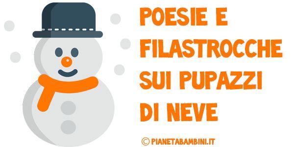 Poesie e filastrocche sui pupazzi di neve