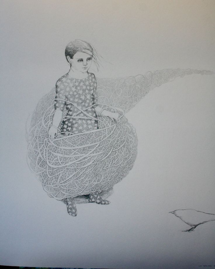 Liv Sørvaag Drawing pencil  70x100