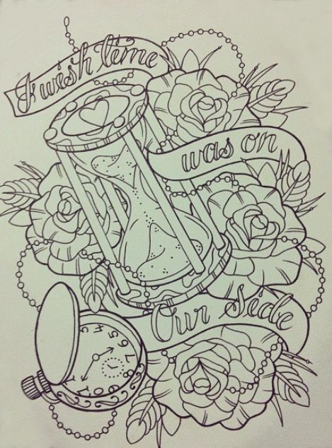 tattoo sketch - could be used as images for New Year's Eve - possible for design for tattoo inspired Baltimore album quilt