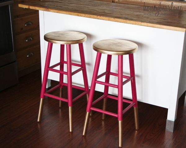 Gold-dipped bar stools