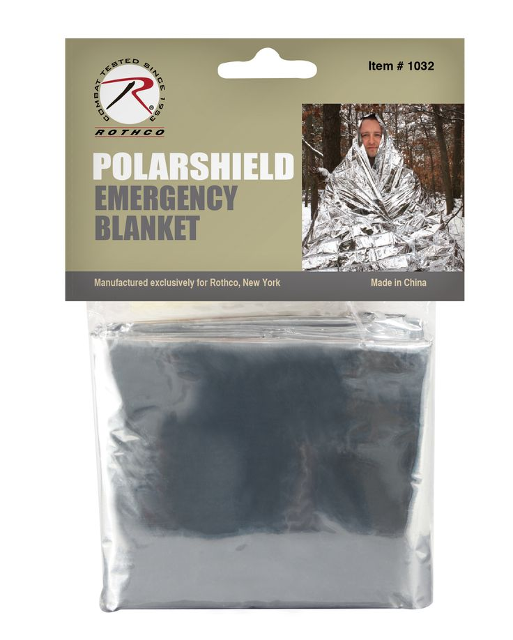 Rothco Polarshield Survival Blanket Reflects 90% Of Body Heat , Great To Have Where Ever You Go