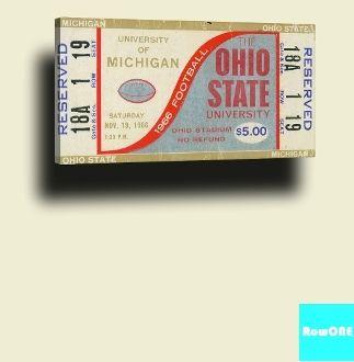 1966 OSU Michigan ticket art by Row One Brand