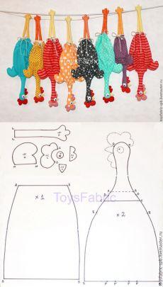Costurar um galo divertido - um presente poderoso para o Ano Novo - Feira Mestres - artesanal, feito à mão
