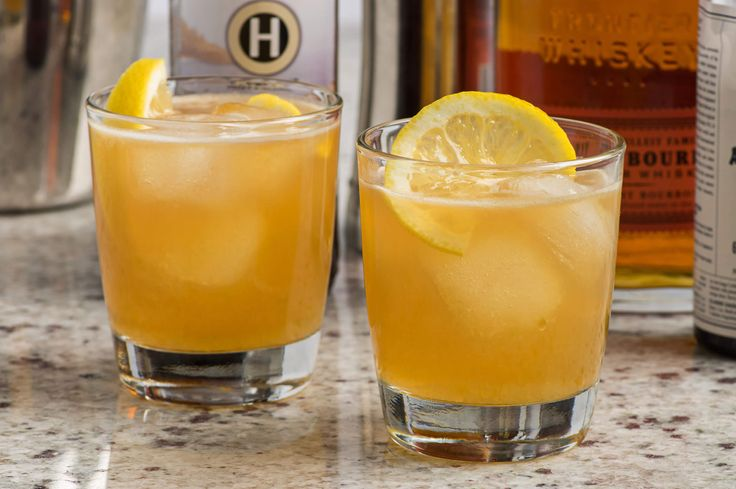 A take on a whiskey sour, this cocktail combines bourbon, orange marmalade and weiss beer for a drink that keeps things interesting.