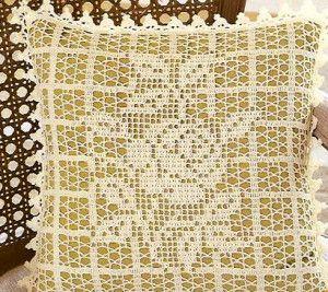 Филейное вязание крючком: подушки, роза