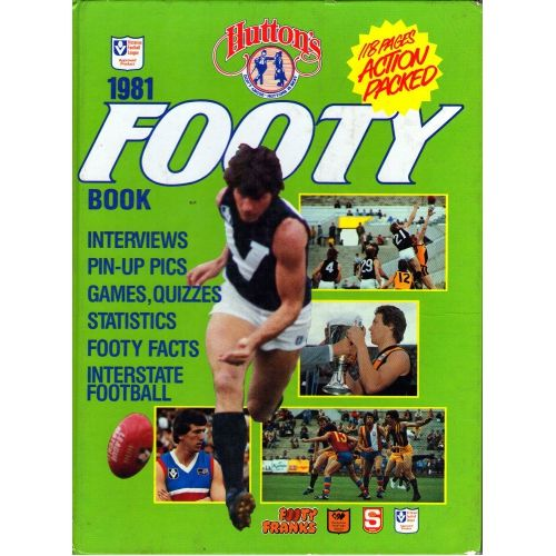 Huttons 1981 Footy Book SIGNED BY SANFL PLAYERS