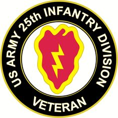 US Army Veteran 25th Infantry Division Sticker Decal
