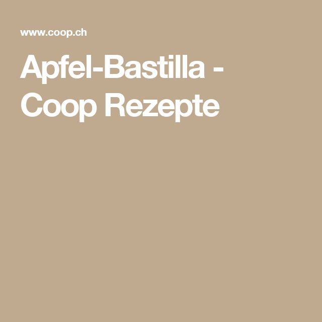 Apfel-Bastilla - Coop Rezepte