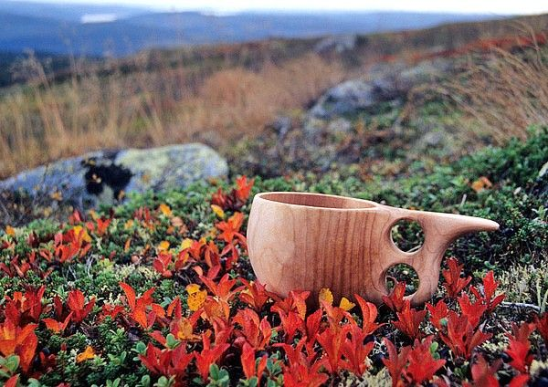 A mug named 'Kuksa' in Finnish pure nature