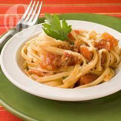 Linguini a la amatriciana @ allrecipes.com.mx