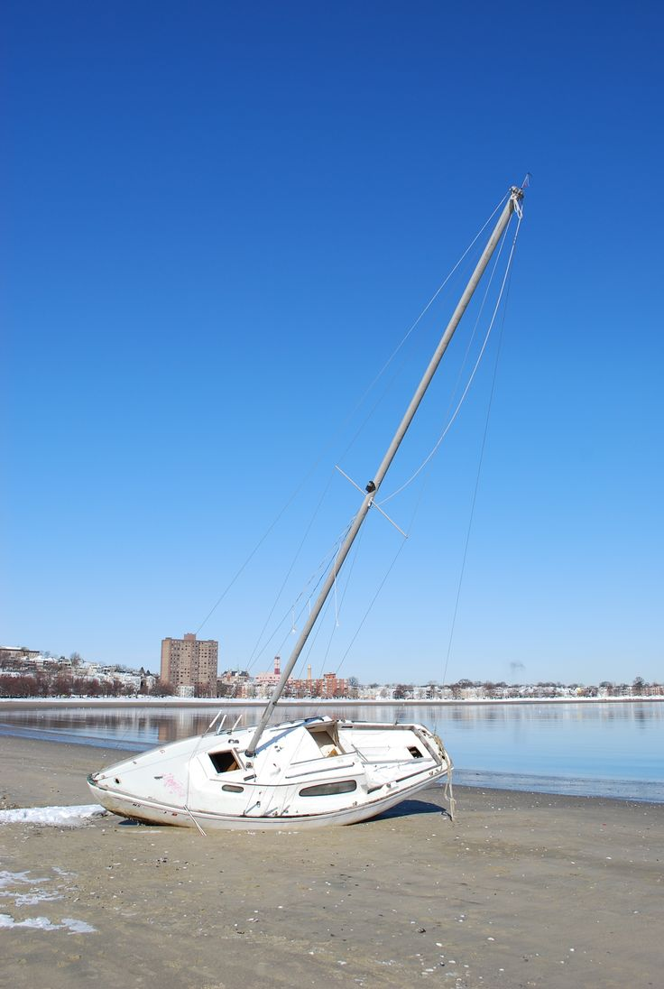 Not Sure Why This Boat Sat On Carson Beach For So Long It Was