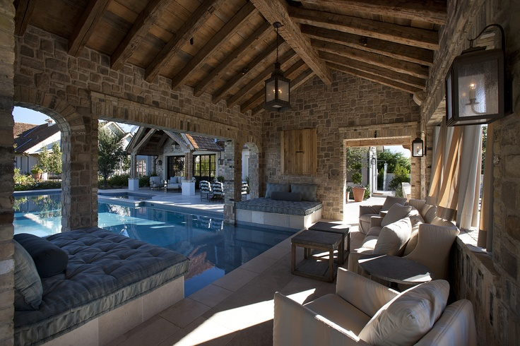 Pool cabana built by Nance Construction
