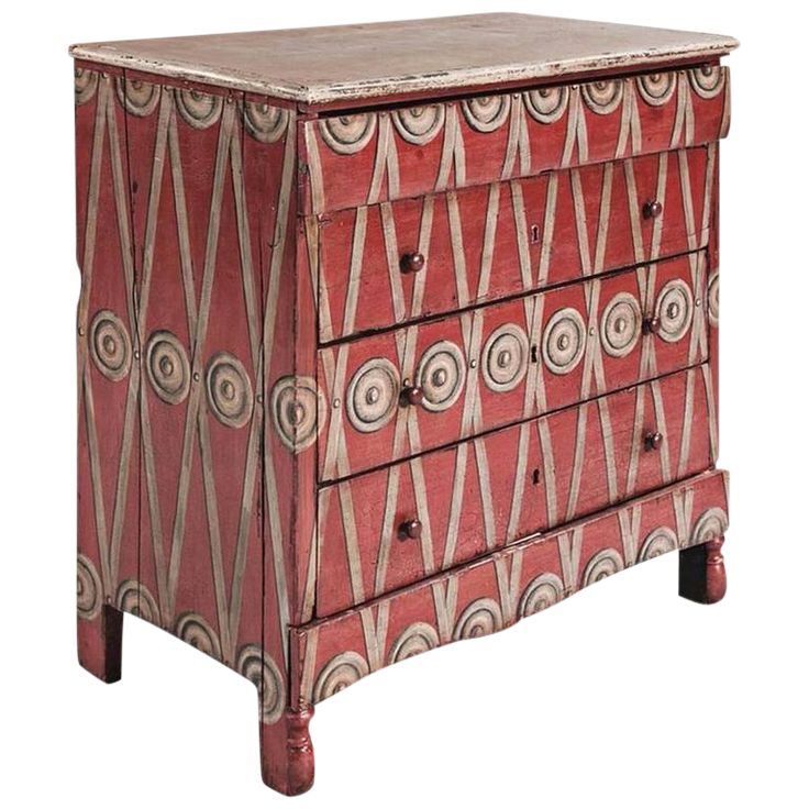 French Neoclassical Painted Chest of Drawers on DECASO.com