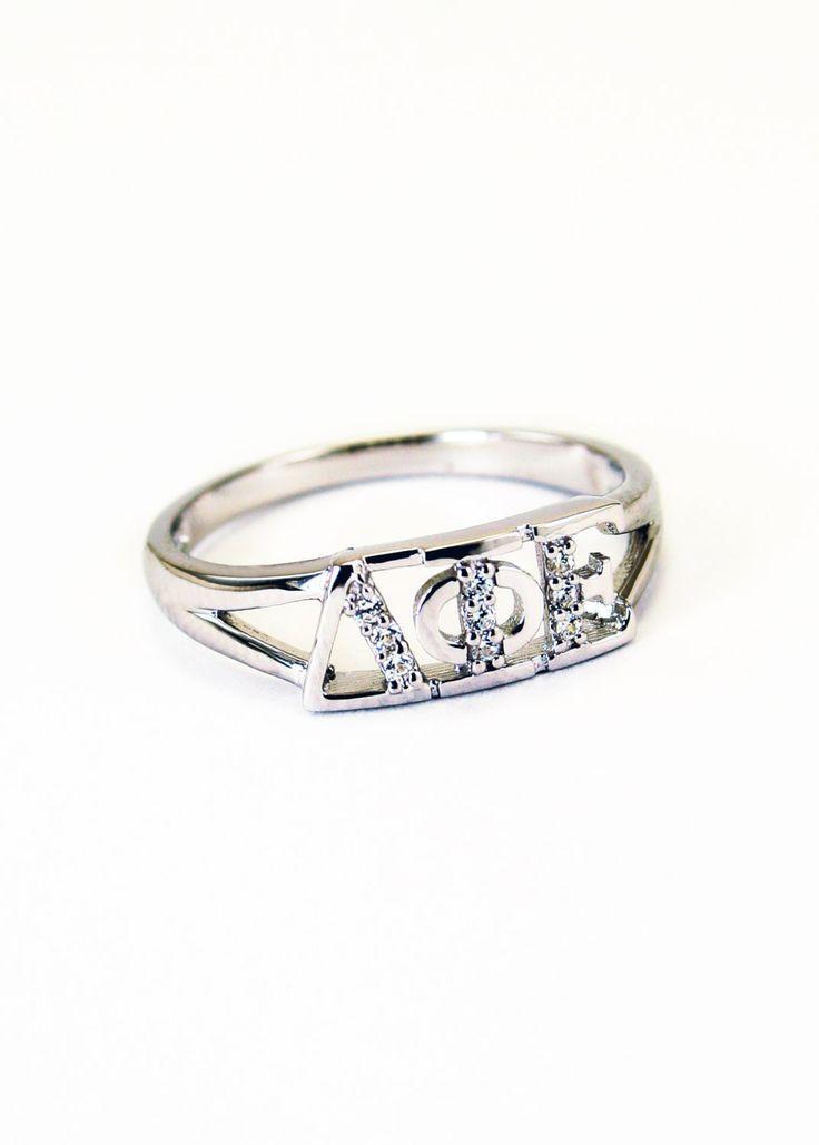 Delta+Phi+Epsilon+Sterling+Silver+Ring+set+by+CollegiateStandard,+$35.00