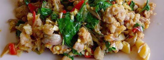 Pad Ga Pow basilikum-wok