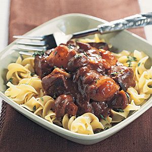 Beef Burgundy with Egg Noodles | MyRecipes.com - Made just as recipe says and it was SO GOOD! Highly recommend!