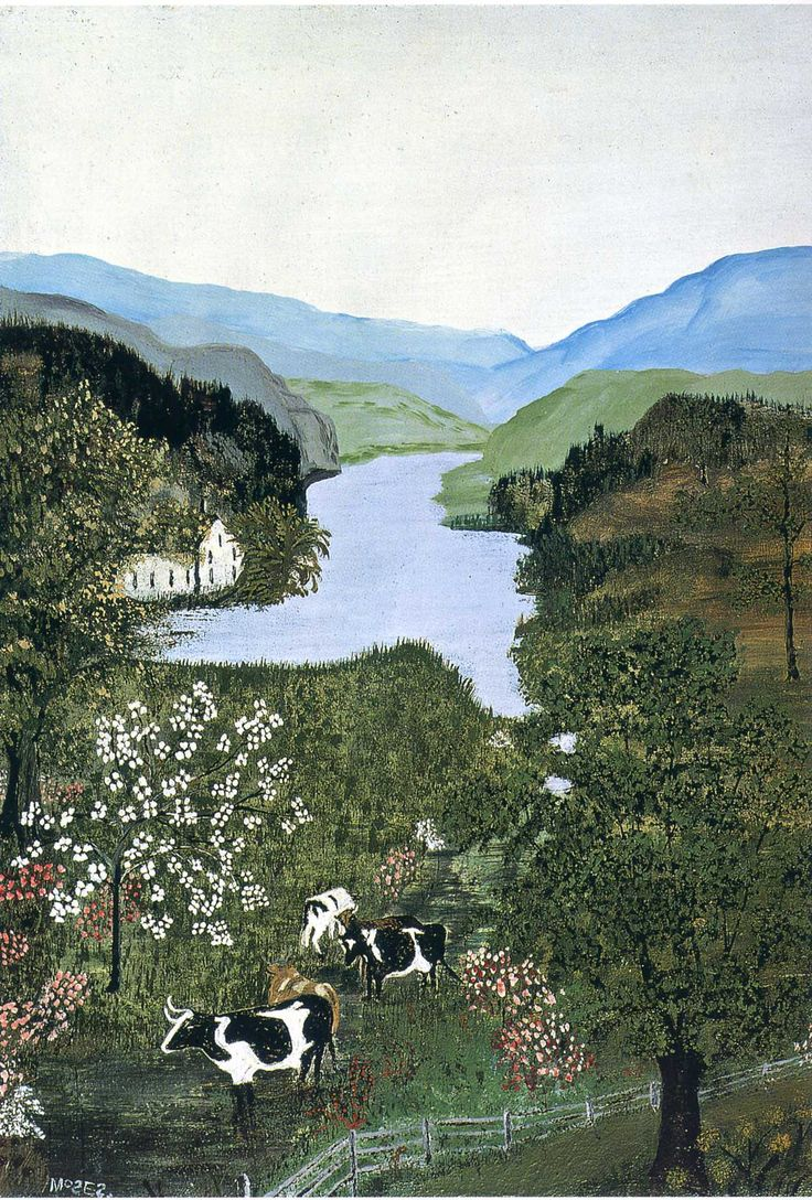 Grandma Moses……….SHE KNEW WHAT WAS PLEASING AND REMINISCENT TO THE MAJORITY……THANK YOU DEAR GRANDMAS MOSES…………..ccp