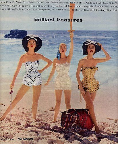 Brilliant swimsuits, 1950's