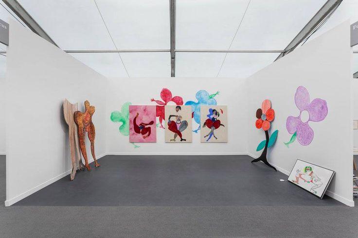 Frieze New York 2017 Solo presentation by Tschabalala Self Installation view Photo credit: Sebastiano Pellion di Persano