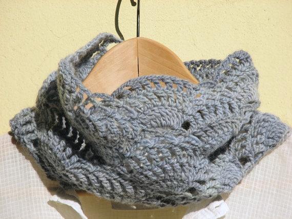 Crochet Neck WarmerNeck Warmers, Cozy Cowls, Cowls Neck, Lace Cowls, Dusty Blue, Blue Lace, Crochet Lace, Lights Blue, Crochet Neck