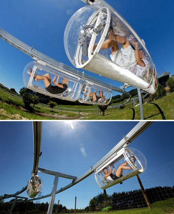Australian inventor Geoffrey Barnett dreamed up his human-powered monorail while living in Tokyo, when he wished he could pedal above that city's endless traffic jams. Since 2007, it's been possible to test-drive Barnett's fantasy on the world's first Shweeb, at the Agroventures adventure theme park in Rotorua, New Zealand.