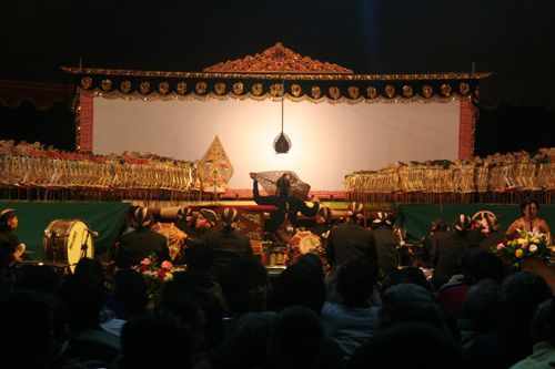 Here are the situation of the performance. #Shadowpuppet #javanese #art #performance