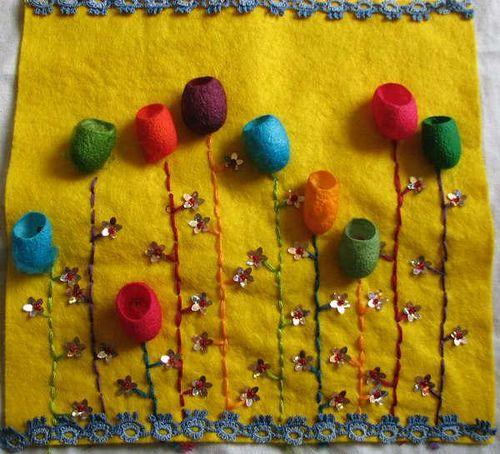 silk cocoon flowers - Nat Ellis by The Hidden Tentacle, via Flickr