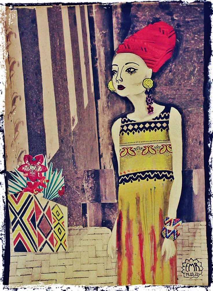 Natural Mistic Tinta guache e recorte e colagem #art #styke #black