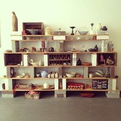 DIY Cinder Block Shelf