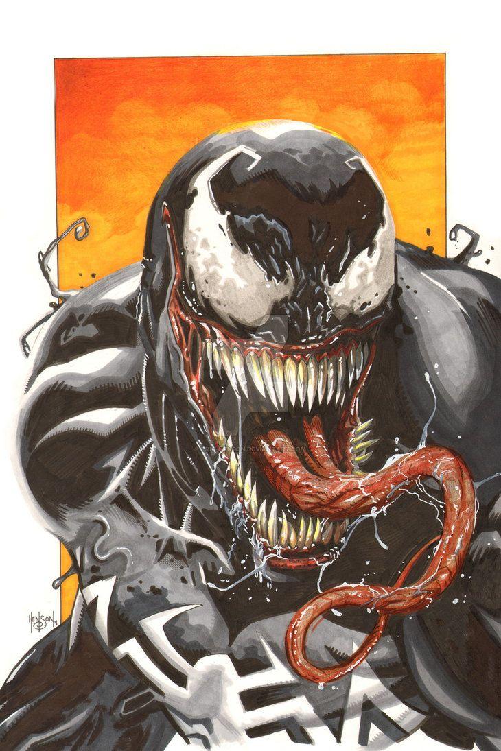 StuffNThings - Venom Marker Sketch by Eric-Henson