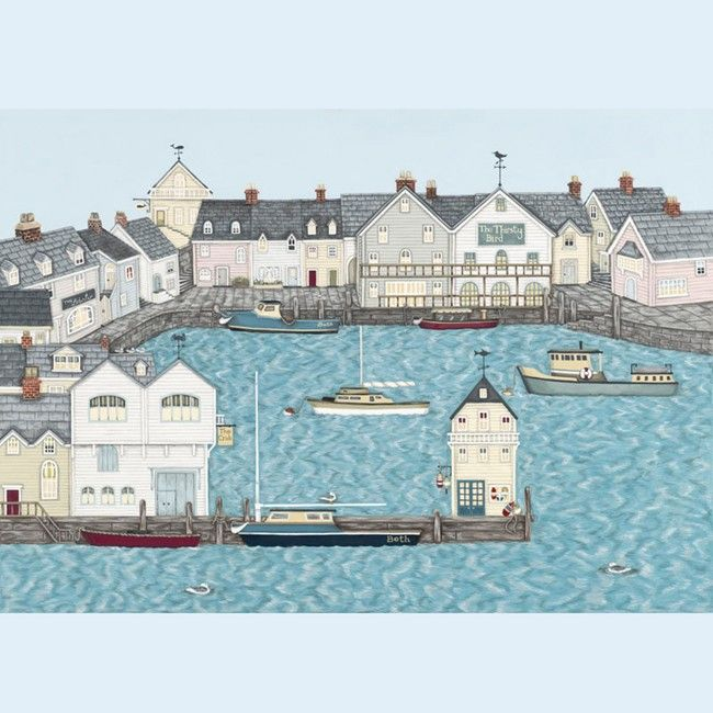 Harbour Signed Giclée Print - Sally Swannell
