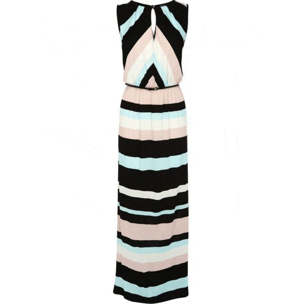 OASIS Stripe Maxi Dress (235 BRL) ❤ liked on Polyvore featuring dresses, maxi length dresses, oasis dresses, maxi dresses, striped dress and stripe dresses