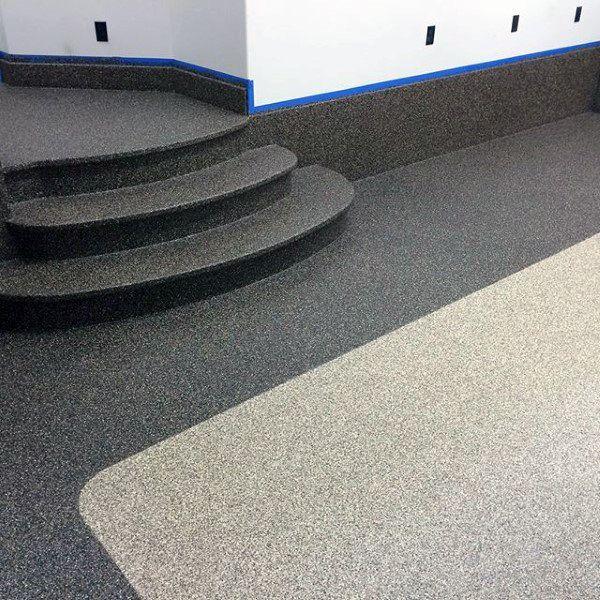 ideas de pintura epoxi para pisos de goma garaje