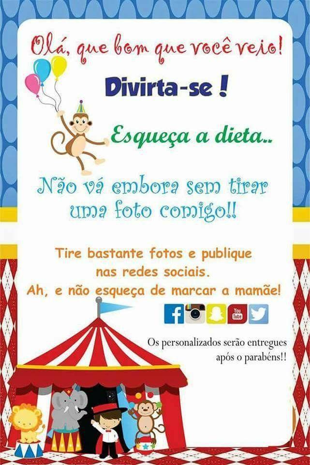 Pin De Janeine Jovino Em Aniversario Circo Ou Palhaco Festa