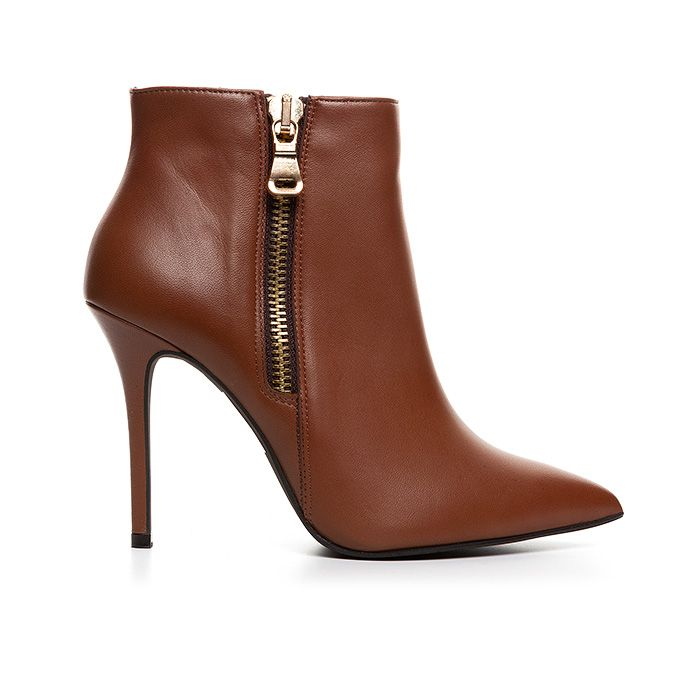 100422_COGNAC LEATHER www.mourtzi.com #mourtzi #cognac #ankleboots #booties #greekdesigners #fashionboots