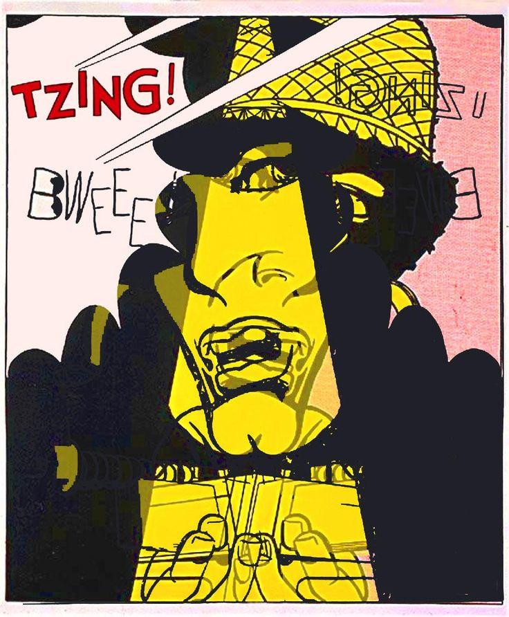 """After Roy Lichtenstein """"Live Ammo (Tzing!)"""" 1962 #19jpg #dada #appropriation #gegenwartskunst #konzeptkunst #kunst"""