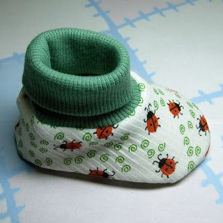 Lil' Baby Thangs Baby Sewing Patterns, Knit Fabric and Notions: Baby Bootie Pattern 5 (Sweetgrass Meadow) Pictorial Tutorial