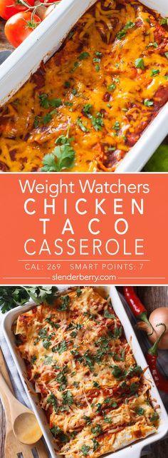 Weight Watchers Chicken Taco Casserole Recipe - 7 Smart Points 285 Calories