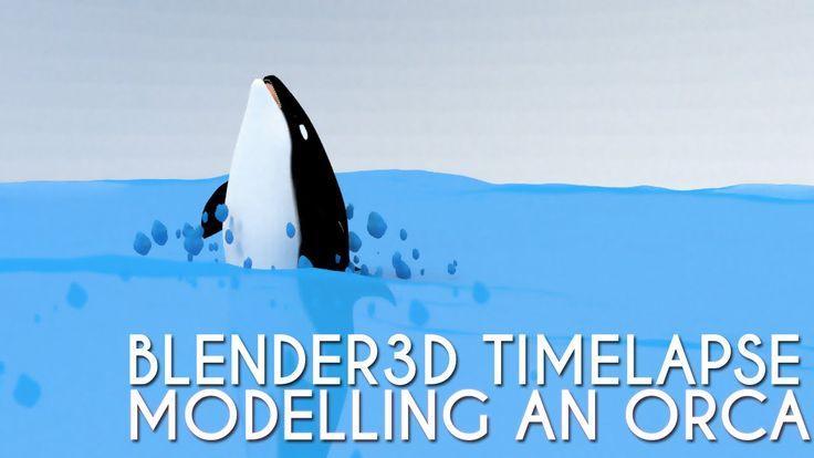 #Blender3D #TimeLapse: #Modelling an #Orca / #Killer Whale