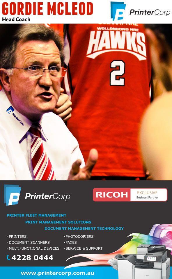 Hawks coach Gordie McLeod.