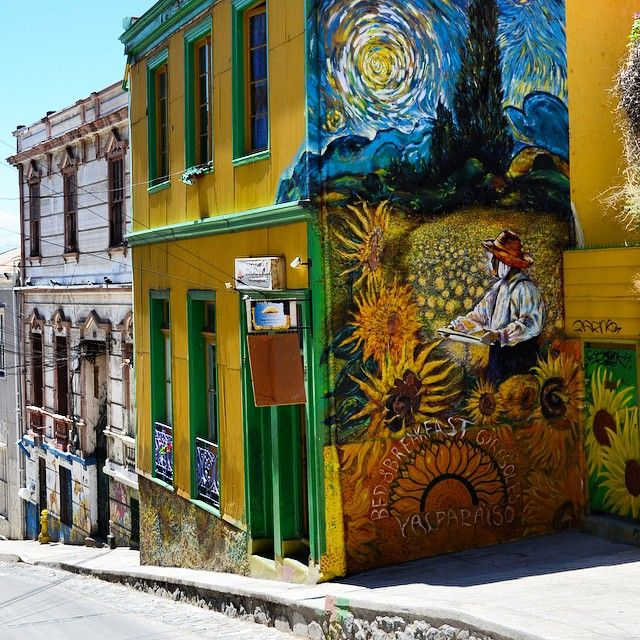 Valparaiso, Chile is one of the world's most colorful cities. Photo courtesy of kristine_mv on Instagram.