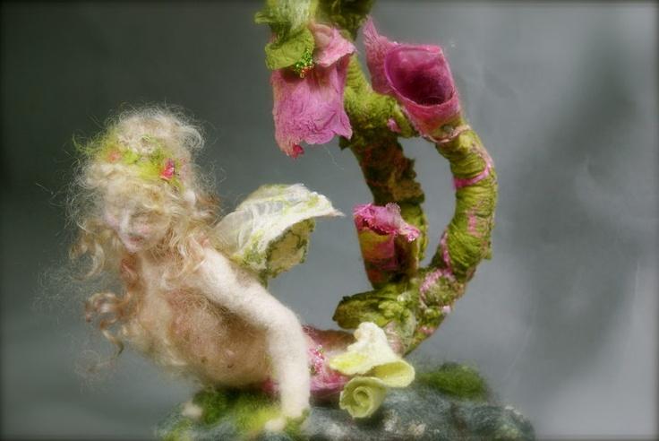 Felt fairy sculpture