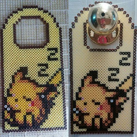 Pika Pika Pikachu se montre en perles à repasser hama pokemon perler beads                                                                                                                                                                                 Plus