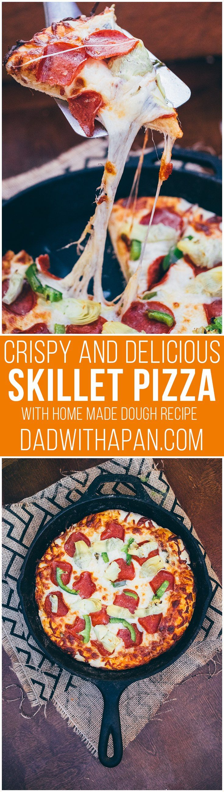 Crispy Skillet Pizza - Dad With A Pan