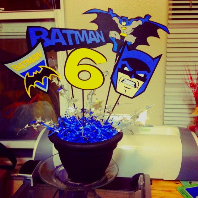 Batman Centerpiece Crafts Pinterest Batman Centerpieces And Party