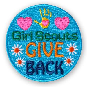 GIRL SCOUTS GIVE BACK IRON-ON PATCH
