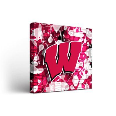 "Victory Tailgate NCAA Fight Song Framed Graphic Art on Wrapped Canvas NCAA Team: Wisconsin Badgers, Size: 24"" H x 24"" W x 1.5"" D"