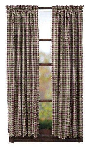 Jackson Scalloped Lined Short Panel Curtains 63""